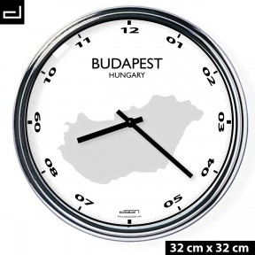 Office wall clock: Budapest