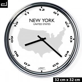 Office wall clock: New York