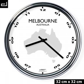 Office wall clock: Melbourne