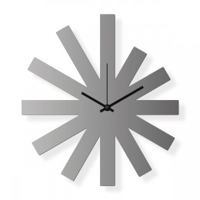 Medium sized wall clock, steel 16x12 in: Silver Star | atelierDSGN