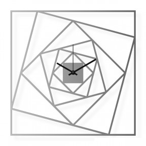 Medium sized wall clock, steel 15x15 in: Squares | atelierDSGN
