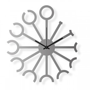 Medium sized wall clock, steel 16x14 in: Twelfths | atelierDSGN