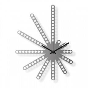 Medium sized wall clock, steel 16x12 in: Mercury | atelierDSGN