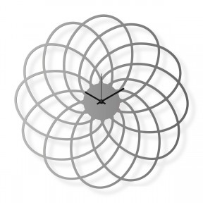 Medium sized wall clock, steel 16x16 in: Flower | atelierDSGN
