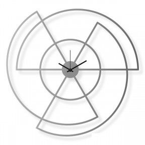 Large stainless steel wall clock, 24x25 in: Radio | atelierDSGN