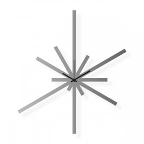 Large stainless steel wall clock, 29x33 in: Superstar | atelierDSGN