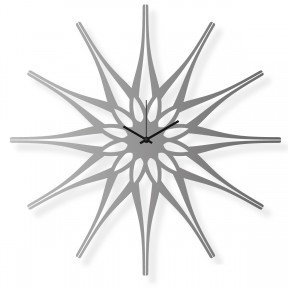 Large wall clock made of stainless steel, 25x25 in: Flower II | atelierDSGN