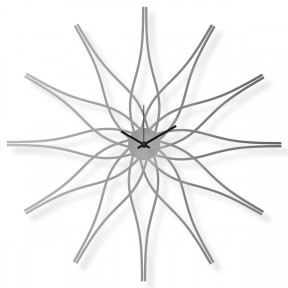 Large stainless steel wall clock, 25x25 in: Flower III | atelierDSGN