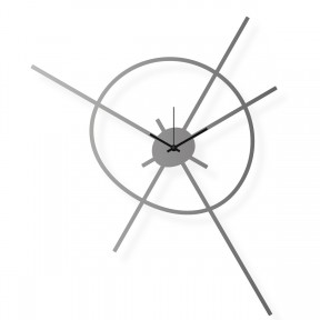 Large stainless steel wall clock, 20x25 in: Satellite | atelierDSGN