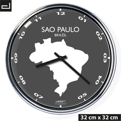 Office wall clock: Sao Paulo