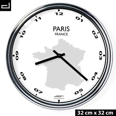 Office wall clock: Paris
