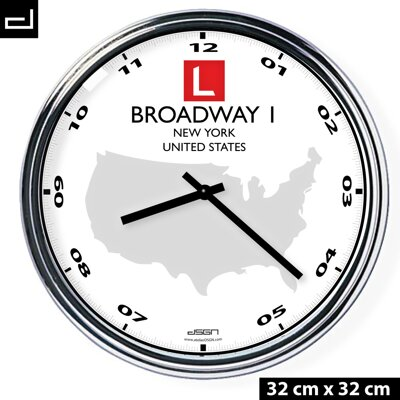 Custom Wall Clock with your address and logo