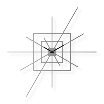 Large stainless steel wall clock, 25x25 in: Superstar II | atelierDSGN