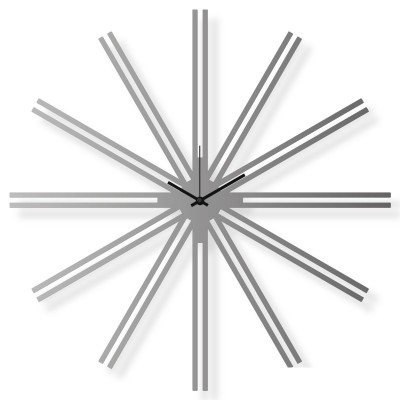 Large stainless steel wall clock, 25x25 in: Superstar IV | atelierDSGN