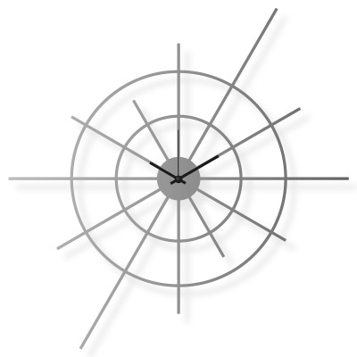 Large stainless steel wall clock, 63x63 cm: Superstar V | atelierDSGN